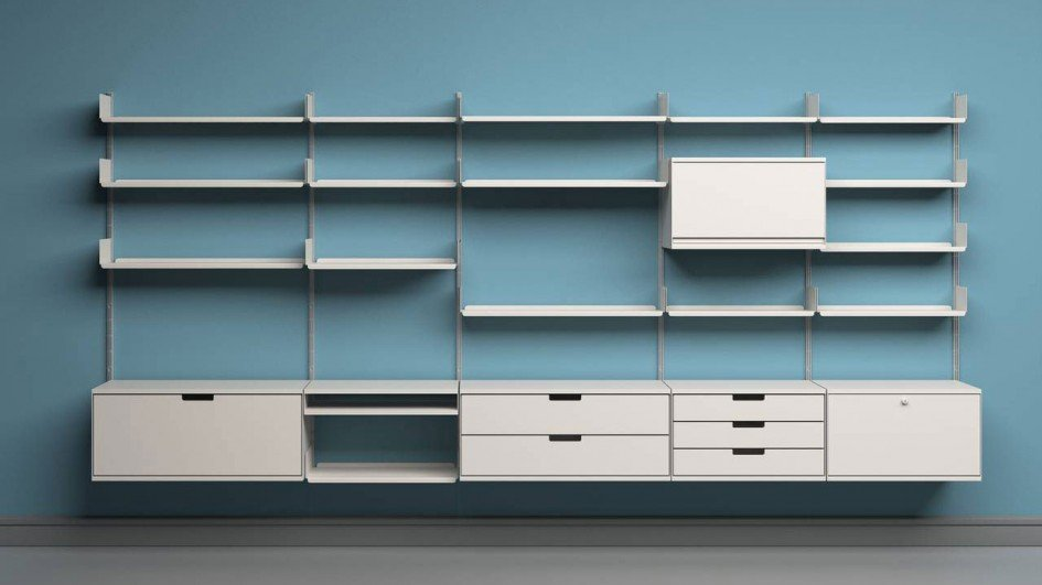 Vitsœ 606 Universal Shelving System, designed by Dieter Rams in 1960