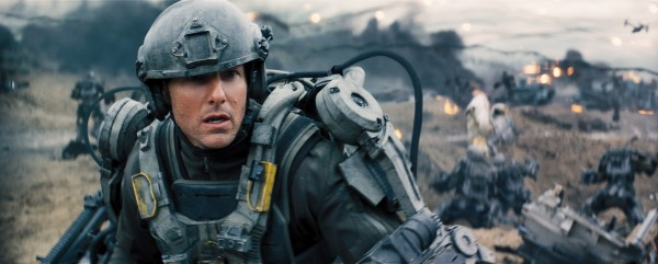 Tom Cruise looking uncharacteristically dumbfounded in the first still from Edge of Tomorrow