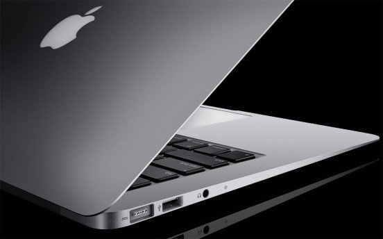 The purty aluminium lines of a MacBook Air